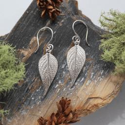 DaVine Jewelry, Sterling Silver Pineapple Sage Leaf Dangle Earrings