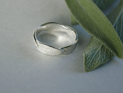 DaVine Jewelry, Silver Sage Leaf Ring