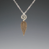 DaVine Jewelry, Bronze Pineapple Sage Leaf and Spiral Pendant Necklace