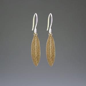 DaVine Jewelry, Bronze Garden Sage Leaf Dangle Earrings