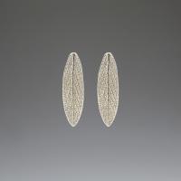 DaVine Jewelry, Garden Sage Leaf Stud Earrings Silver