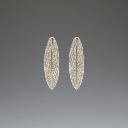 DaVine Jewelry, Garden Sage Leaf Stud Earrings Silver