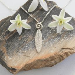 DaVine Jewelry, Garden Sage Leaf Spiral Necklace