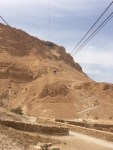 32. In the Cable Car - up to Masada - Day 4