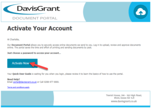 Portal Activate Your Account Email