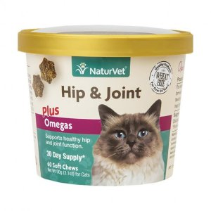 Naturvet® Wheat Free Hip & Joint Plus Omegas Cats Soft Chews 60 Count