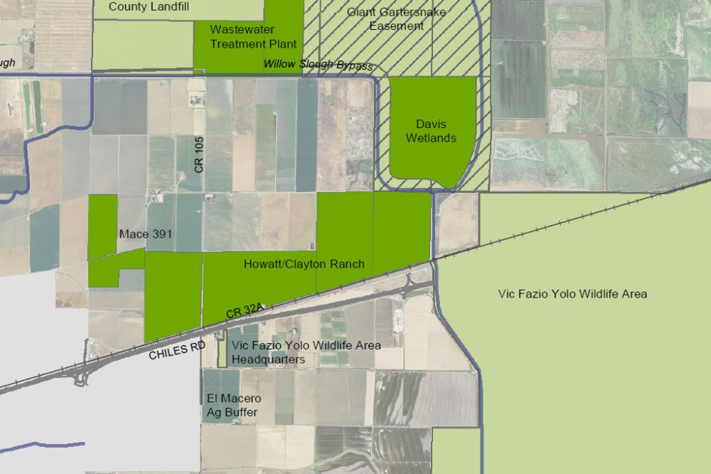 Map shows the location of Howatt Ranch with Mace-200 to the west