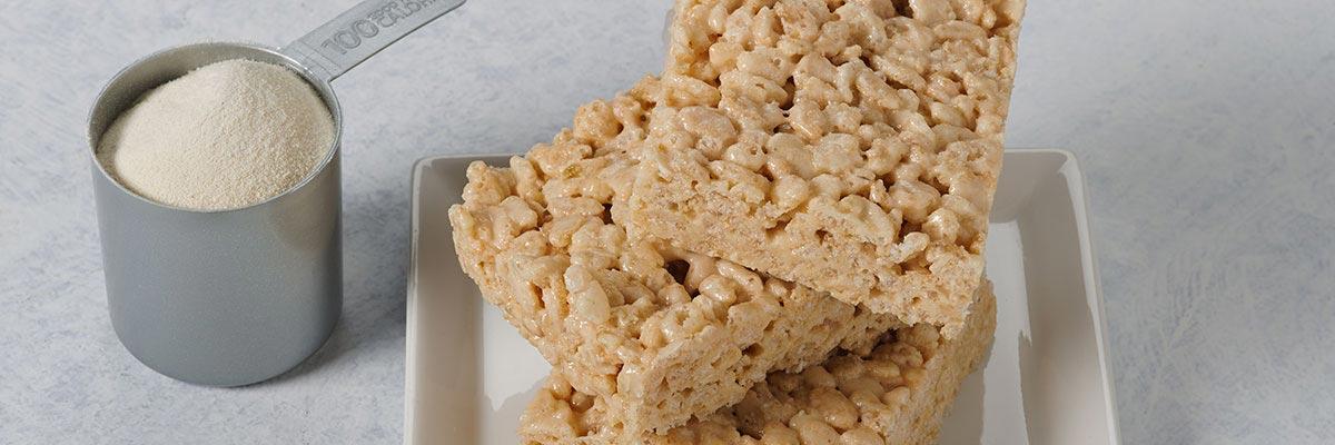 microwave high protein rice crispy treats
