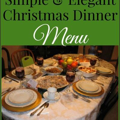 Simple & Elegant Christmas Menu
