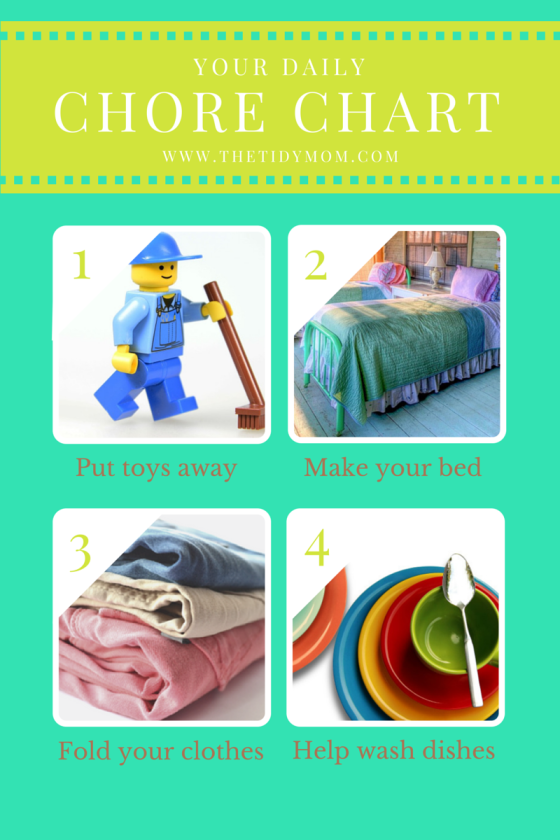 Your Daily Chore Chart FREE Printable from The Tidy Mom
