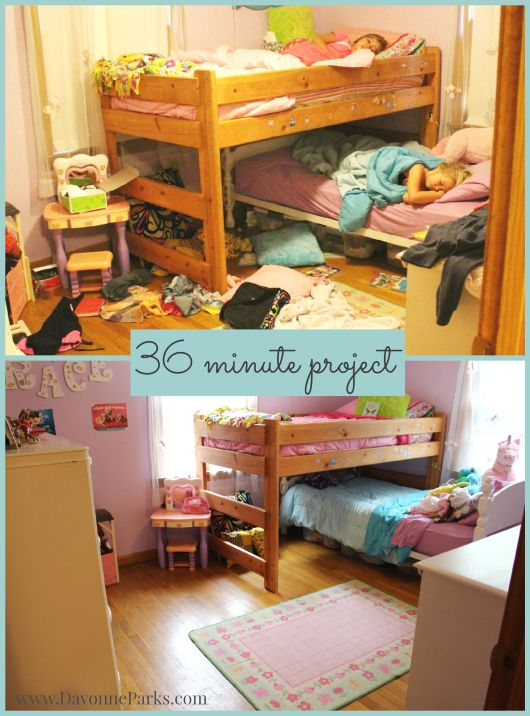 girls room cleanup
