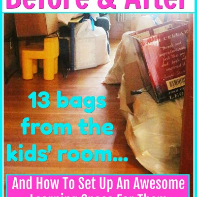 Schoolroom Before & After {Plus How You Can Set Up An Awesome Learning Space For Your Kids}