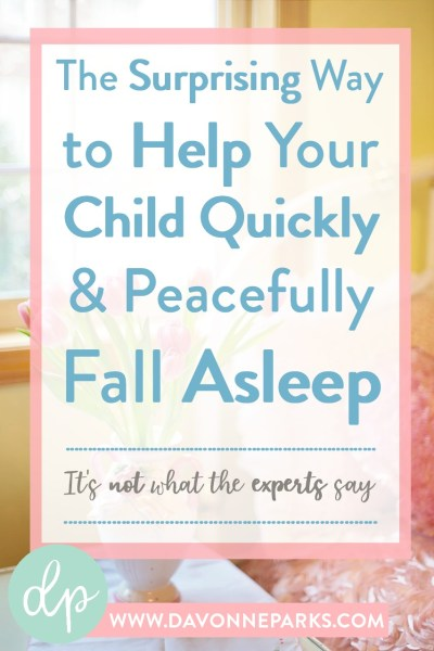 How to get your child to sleep without a battle. WOW! I tried this and it really worked!!!! If your child doesn't fall asleep well, you HAVE to give this a try!! Such a simple technique but with AMAZING results!!
