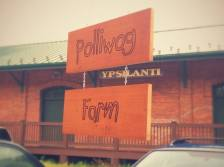 Walnut earrings and infused vinegars from Polliwog Farm