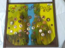 Stained glass with flowers by Alison Fox