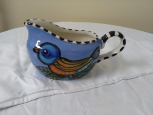 Blue bird gravy boat by Toni & Jay Mann