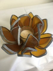 Glass flower candle holder by Jenny Dewitt
