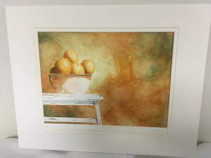 Giclee print of bowl of oranges by George Ceffalio