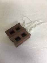 Cynderblock earrings by Michael Nashef