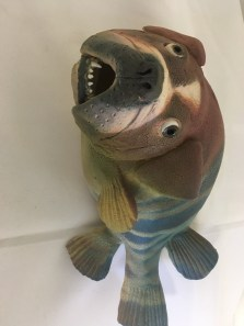 Clay fish wall hanging by Alan & Rosemary Bennett