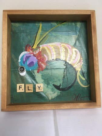"""Fly"" fishing lure wall hanging by Anonymous"