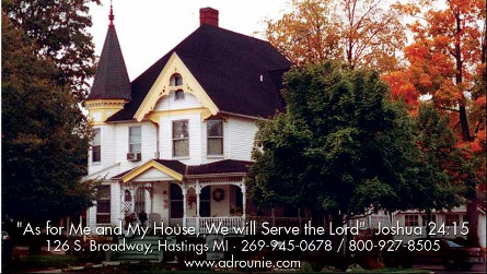 One night's stay in the Adrounie House in Hastings, MI June - August (excluding holidays)