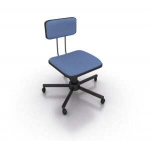 Office chair on white. 3D rendering