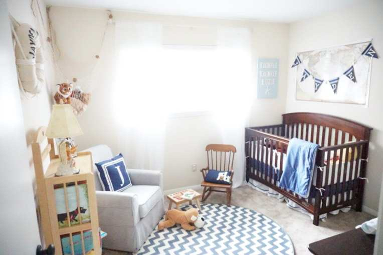 nursery, nautical nursery, gender neutral, boy nursery