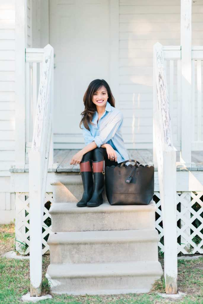 The Best Rain Boots + Everyday Chambray