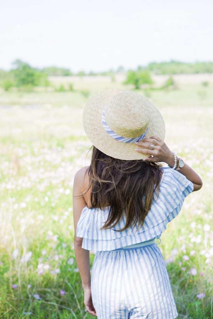 boater hat, bluebonnets, festival, chappell hill, tx
