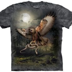 Two Headed Wolfalcon Fantasy T Shirt Adult Unisex Mountain