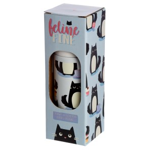 Funky 350ml Flask - Feline Fine Cat Design