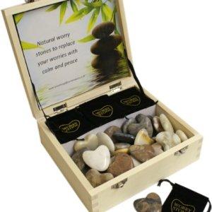 Keepsake White Cream & Grey Heart Shape Agate Natural Worry Stone