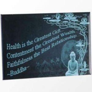 Health Is The Greatest Gift Buddha Metal Fridge Magnet
