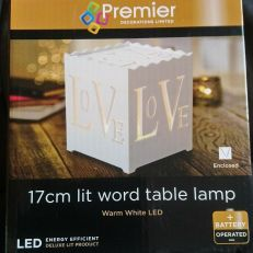 Premier Table Light Warm Leds 17cm