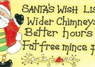 Santa's Wish List Sign