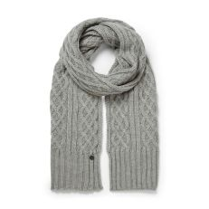 Gray Craghoppers Soft Gray Adults Unisex Dolan Knit Scarf