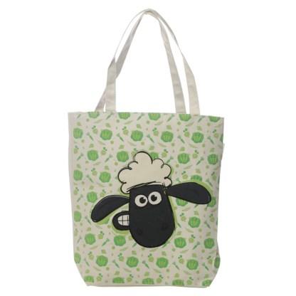 Handy Cotton Zip Up Shopping Bag - Shaun the Sheep Pattern
