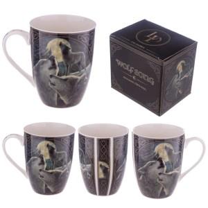Porcelain Fantasy Wolf Song Design Mug