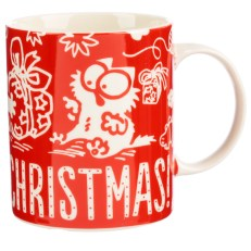 Christmas Porcelain Mug - Simon's Cat Meowy Christmas