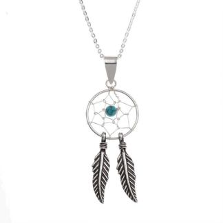 Beautiful Traditional Sterling Silver Dreamcatcher Necklace