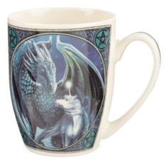 Lisa Parker Porcelain Mug - Protector of Magick Dragon