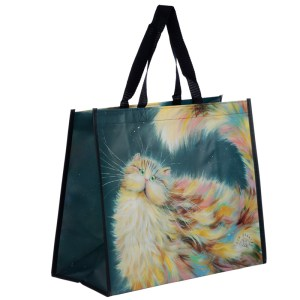 Rainbow Cat Kim Haskins Reusable Shopping Bag