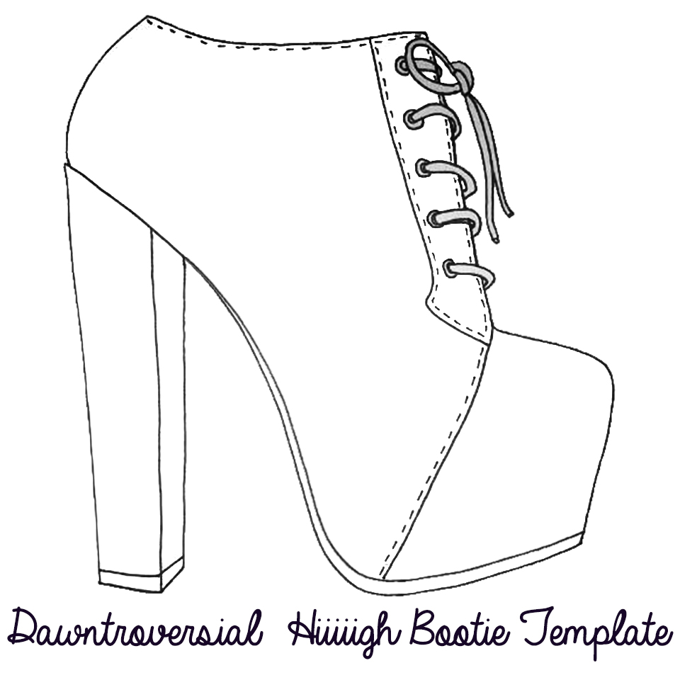 graphic about High Heel Shoe Template Printable called Footwear Templates. printables amp templates upon pinterest