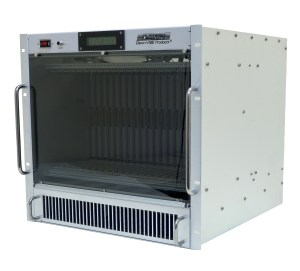 10U VME64x 19in Powered Rackmount Side View