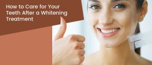 Beautiful smiling woman after her teeth whitening