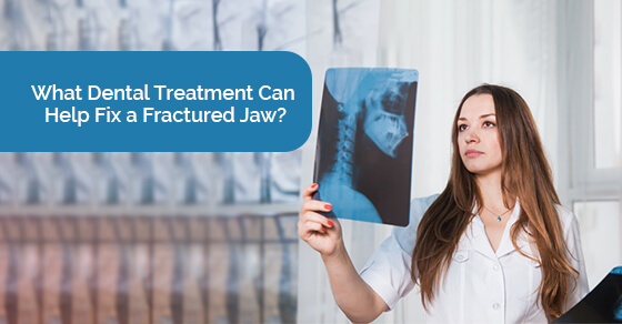 Treatment for fractured jaw