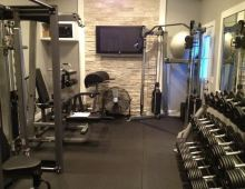 equipped home gym