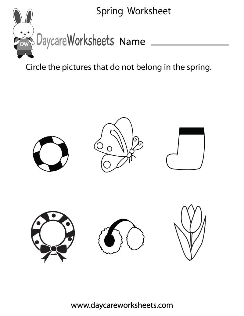 worksheet Spring Worksheets For Kindergarten kindergarten coloring pages educational preschool spring worksheet printable