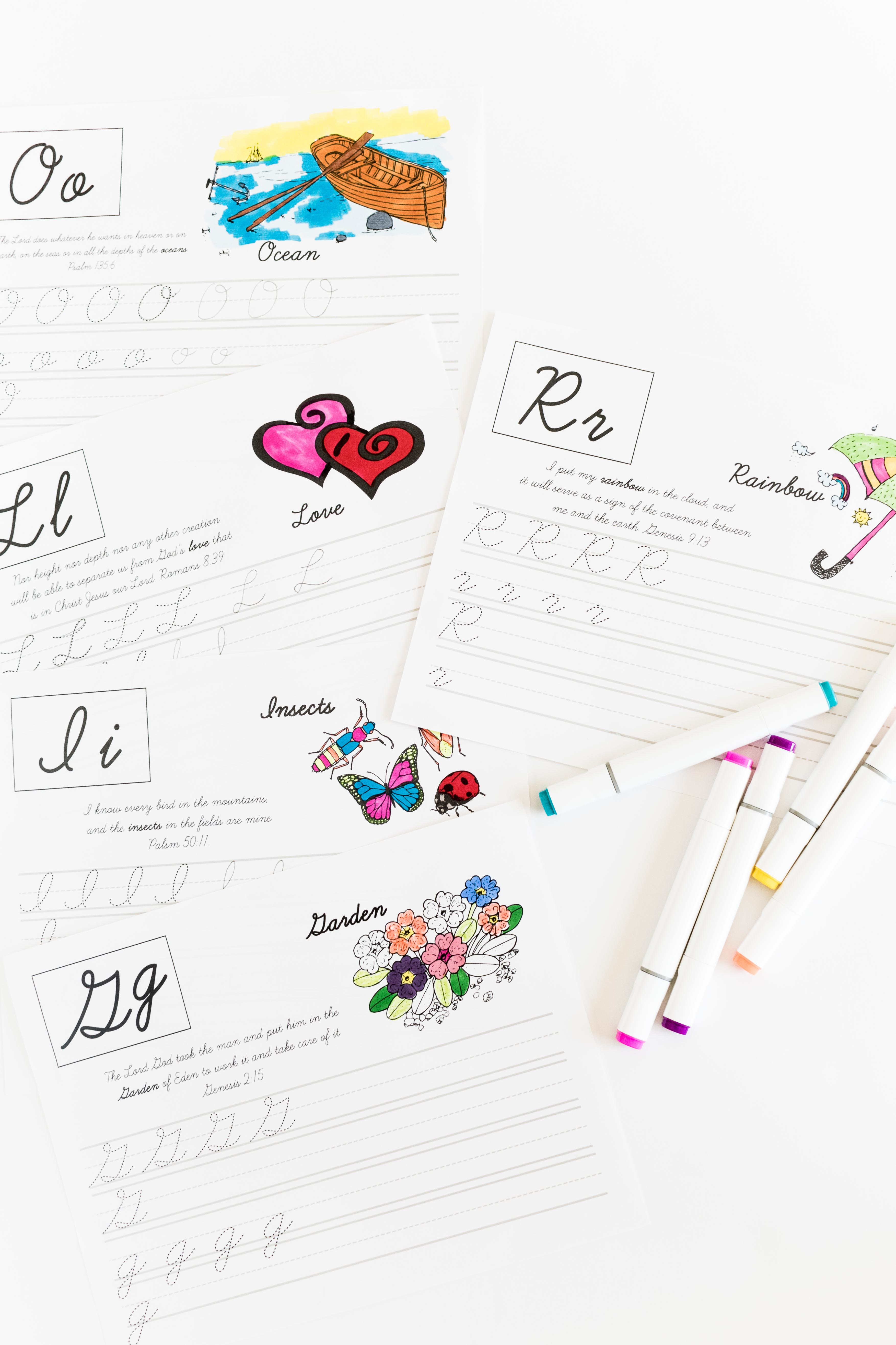 Practice Your Cursive Abc With Bible Verses Free Printable